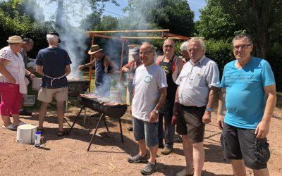 Le barbecue de l'activité pétanque et jeux.