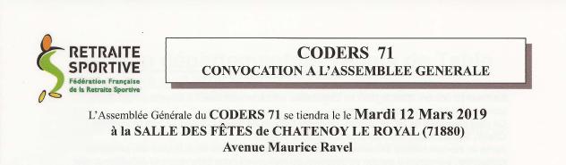 ASSEMBLÉE GÉNÉRALE DU CODERS  71