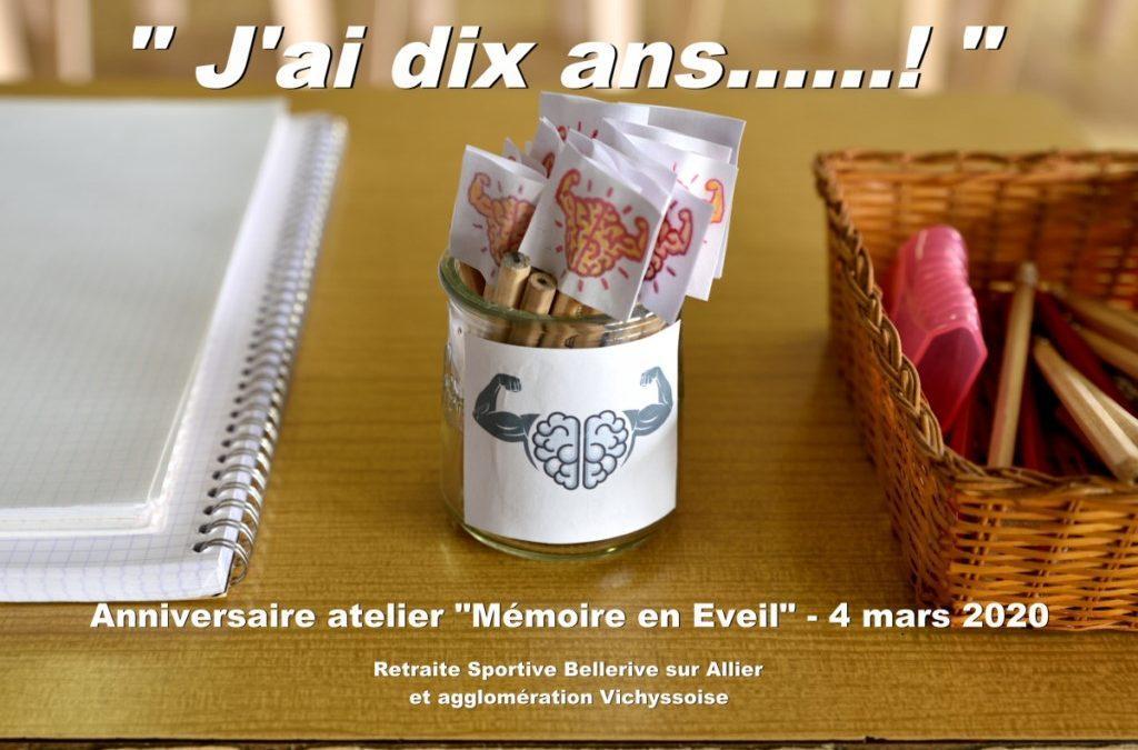 Ateliers mémoire « Mémoire en Eveil « de la Retraite Sportive de Bellerive sur Allier