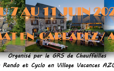 Séjour du lundi 7 au vendredi 11 juin en Aveyron